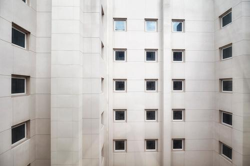 Building facade with windows, architecture background Town House (Residential Structure) Loneliness Window Architecture Wall (building) Wall (barrier) Facade
