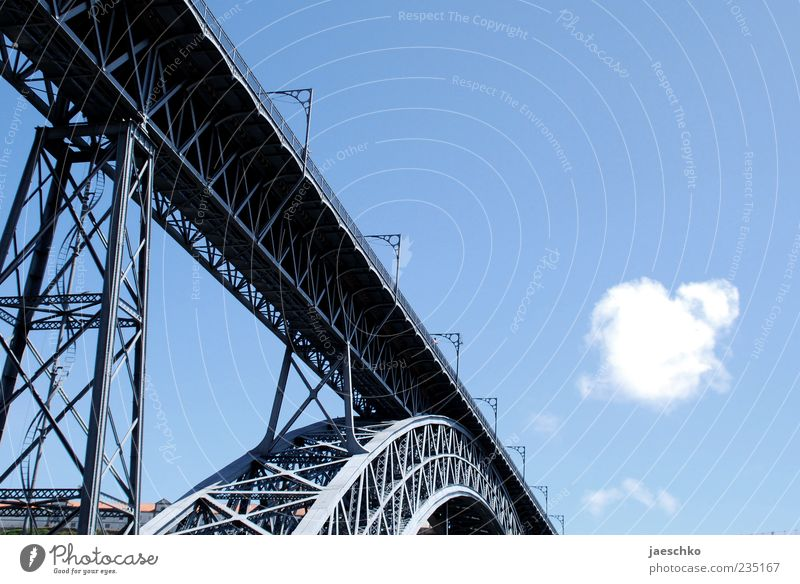Blue Summer Clouds Architecture Exceptional Tourism Bridge Beautiful weather Manmade structures Historic Diagonal Steel Landmark Tourist Attraction Blue sky