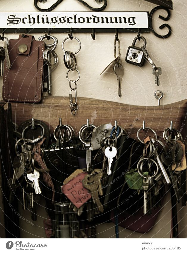 Wall (building) Arrangement Many Hang Testing & Control Key Nostalgia Checkmark Suspended Keyring