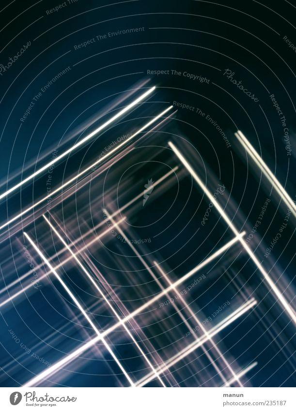 Blue White Line Design Modern Fantastic Pattern Surrealism Symmetry Tracer path Strip of light Motion blur