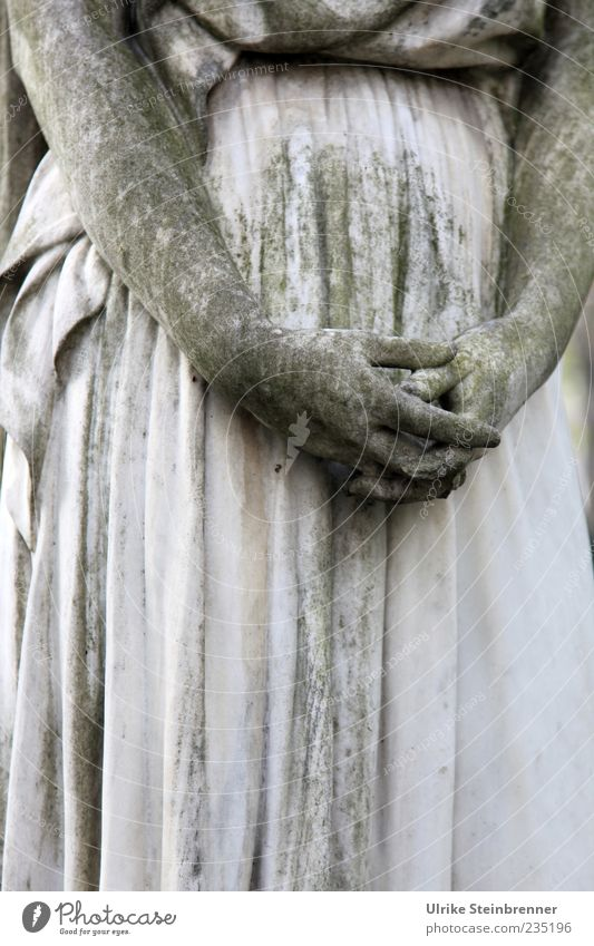 Resting hands Feminine Woman Adults Hand Fingers Art Work of art Sculpture Statue Monument Tourist Attraction Stone To hold on Stand Esthetic Dark Gray Emotions