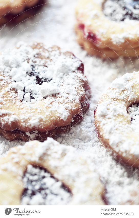 Cookie? Food Dough Baked goods Dessert Candy Jam Nutrition To have a coffee Finger food Esthetic Confectioner`s sugar Bakery Christmas & Advent Self-made White