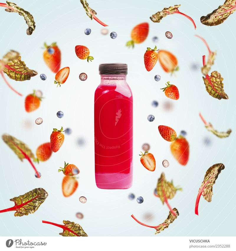 Summer Healthy Eating Red Style Food Pink Design Fruit Nutrition Beverage To fall Organic produce Berries Diet Bottle