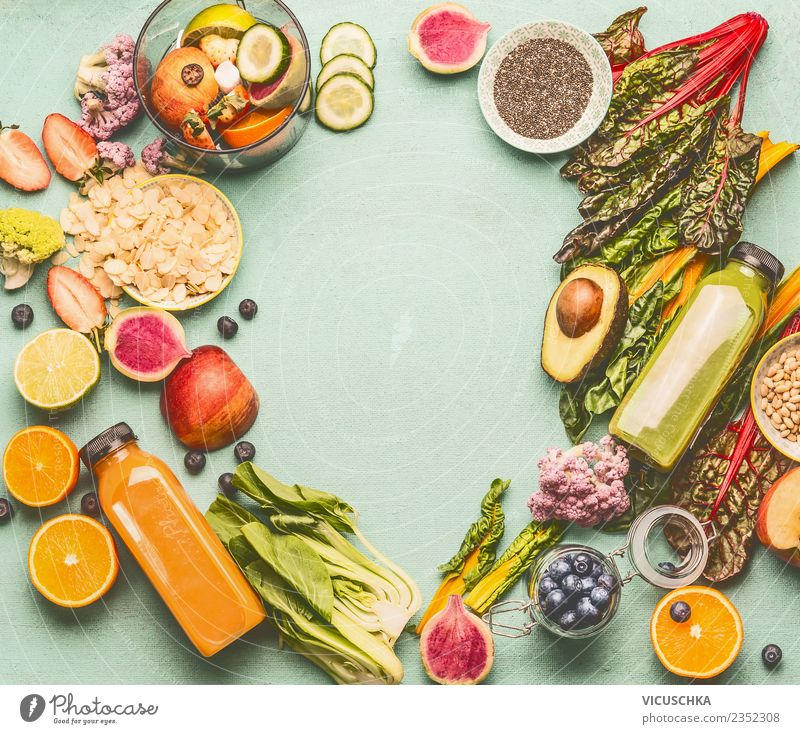 Healthy Eating Food photograph Background picture Style Design Fruit Table Beverage Vegetable Diet Bottle Vitamin Frame Cold drink