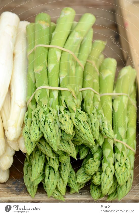 asparagus season Food Vegetable Nutrition Organic produce Vegetarian diet Diet Fresh Healthy Delicious Green Farmer's market Vegetable market Greengrocer