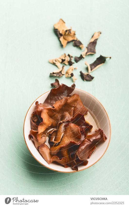 Mu-Err or Black Fungus Mushrooms Food Nutrition Organic produce Vegetarian diet Diet Bowl Style Design Healthy Alternative medicine Healthy Eating Gourmet