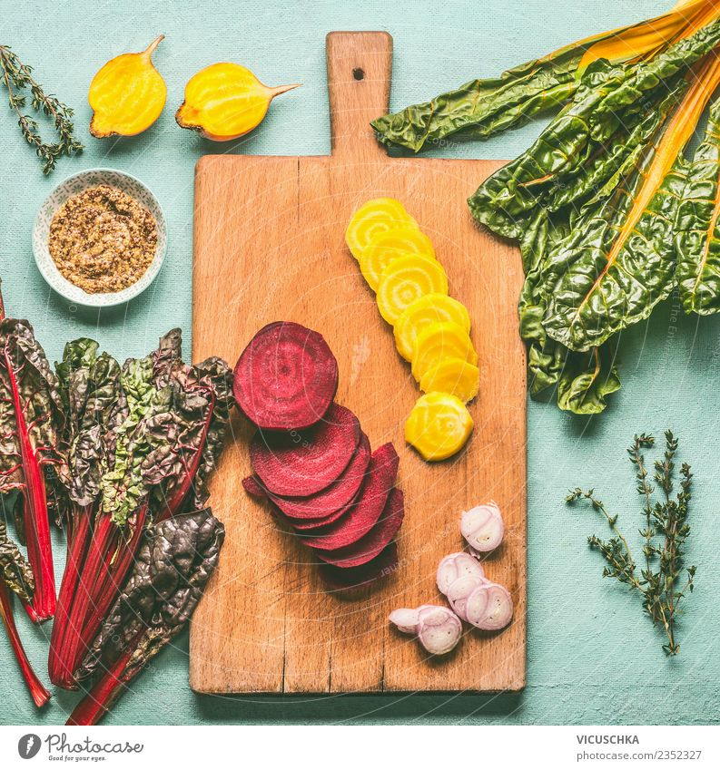 Yellow and beetroot on the chopping board Food Vegetable Herbs and spices Nutrition Organic produce Vegetarian diet Diet Crockery Style Design Healthy