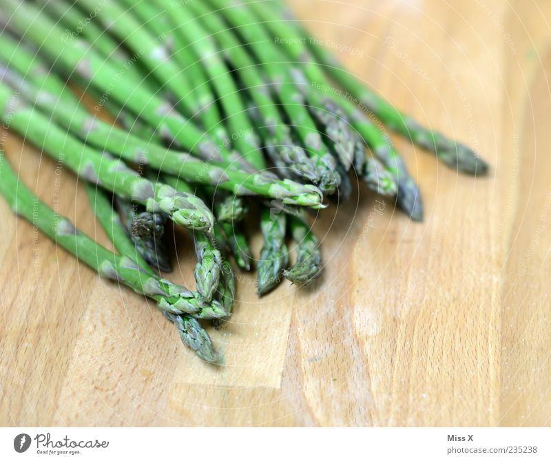 Green asparagus Food Vegetable Nutrition Organic produce Vegetarian diet Diet Thin Fresh Healthy Long Delicious Asparagus Asparagus season Bunch of asparagus