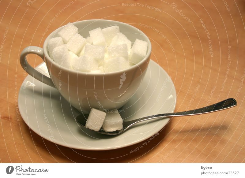 Nutrition Coffee Cup Sugar Fill Saucer