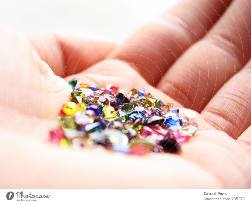 Hand Beautiful Small Happy Stone Bright Glass Glittering Fingers Wrinkle To hold on Thin Fantastic Collection Indicate Give