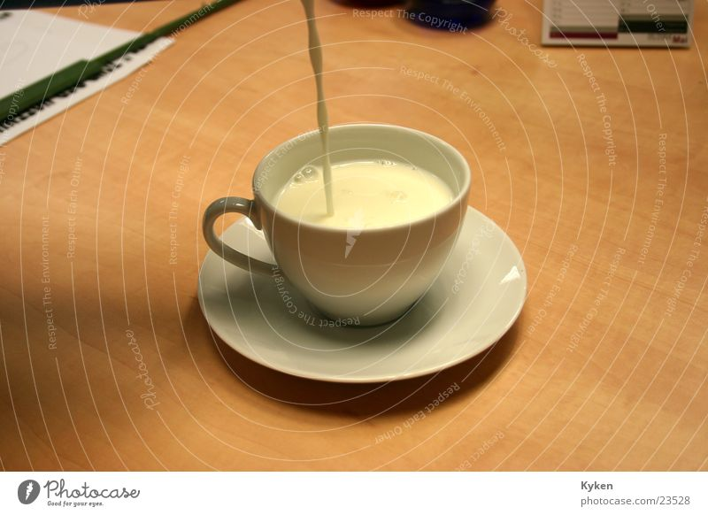 The milk makes it... Milk Sugar Cup Saucer Alcoholic drinks Coffee Fill