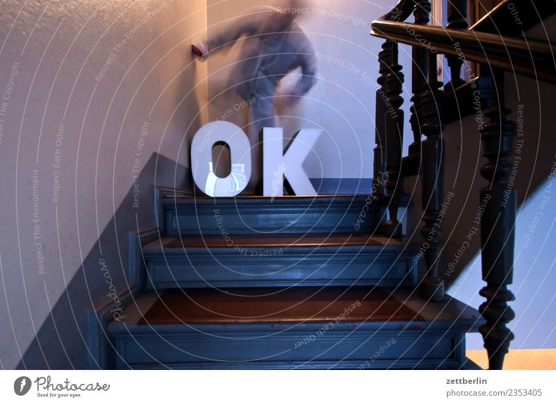 OK (7) Landing Descent Downward Go up Upward Window Handrail Banister House (Residential Structure) Man Apartment house Human being Deserted