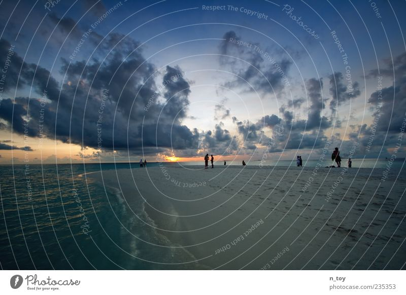 Stop Time 2 Vacation & Travel Tourism Far-off places Freedom Summer Summer vacation Sun Beach Ocean Island Human being Water Clouds Horizon Relaxation Dream
