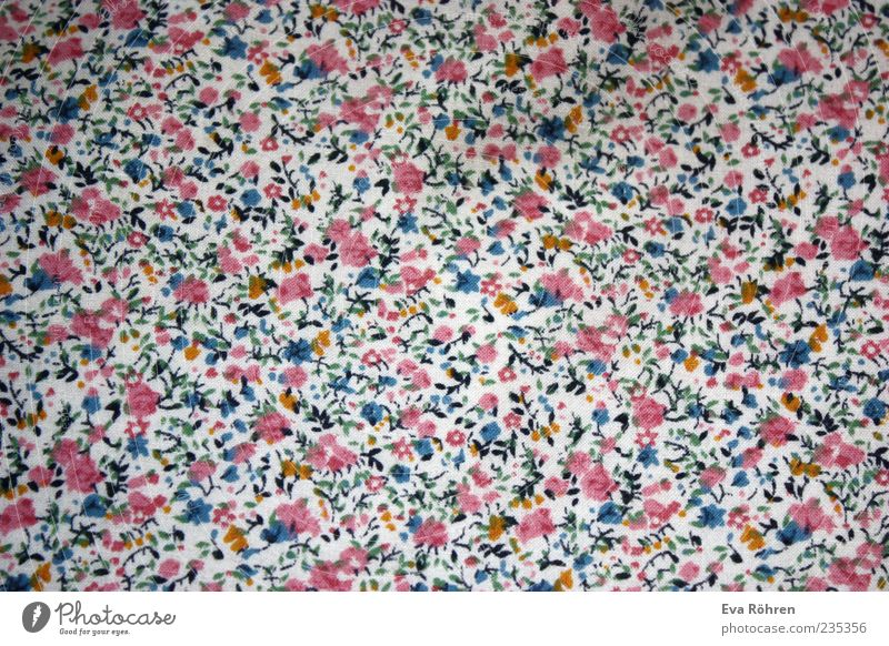 Flower pattern Decoration Friendliness Happiness Fresh Beautiful Cute Many Soft Blue Multicoloured Pink White Spring fever Esthetic Colour Floral bedlinen
