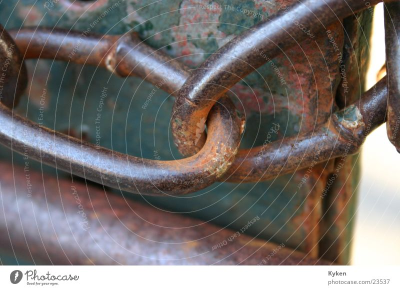 Old Metal Gate Connection Craft (trade) Rust Chain