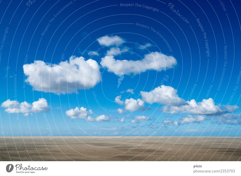 Sky Nature Vacation & Travel Blue Landscape White Ocean Clouds Far-off places Beach Environment Freedom Sand Going Horizon Weather