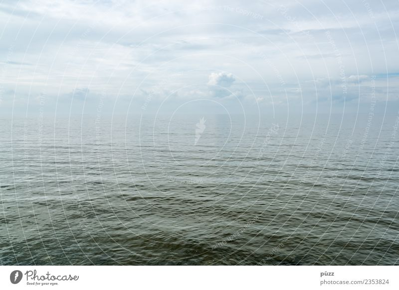 infinity Environment Nature Elements Water Sky Clouds Horizon Climate Climate change Beautiful weather Waves Baltic Sea Ocean Swimming & Bathing Dive