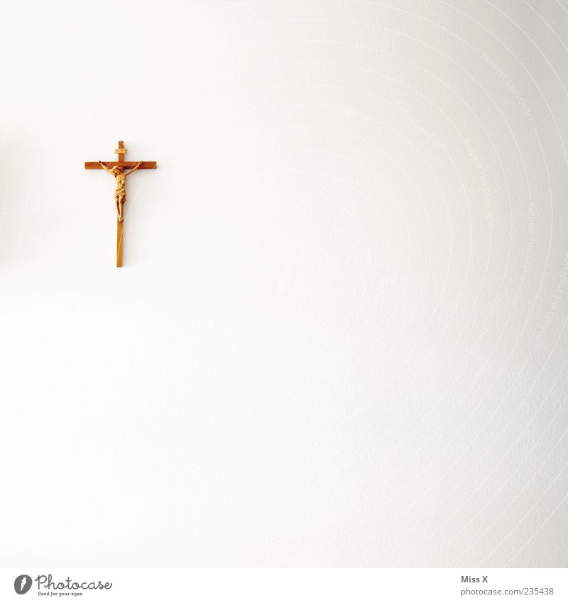 cefix Wall (barrier) Wall (building) White Religion and faith Crucifix Jesus Christ Wall decoration Prayer Church Catholicism Colour photo Subdued colour