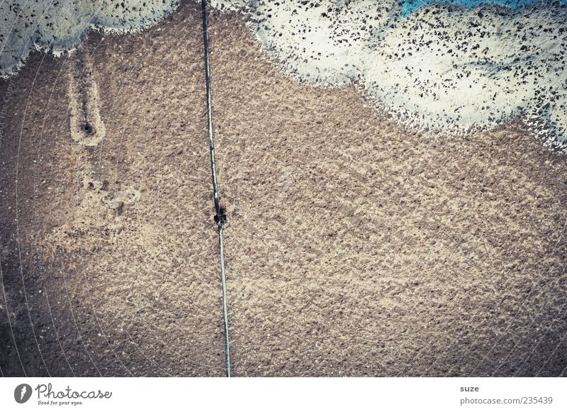 Old Clouds Graffiti Wall (building) Wall (barrier) Gray Background picture Brown Weather Facade Dirty Simple Transience Past Decline Plaster