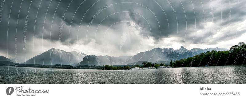 Sky Nature Water Summer Clouds Landscape Mountain Gray Rain Weather Wind Europe Elements Alps Peak Switzerland