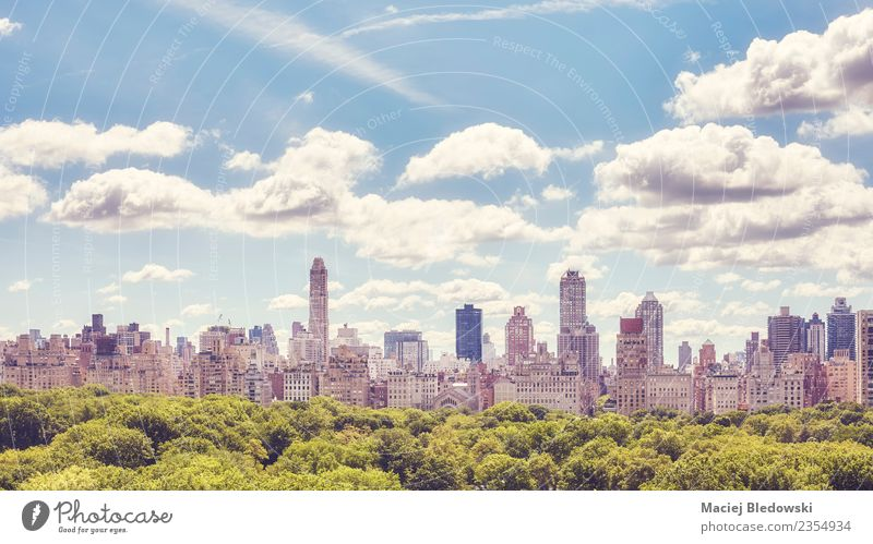 Manhattan Upper East Side skyline over Central Park, NYC. Luxury Sightseeing Summer Living or residing Flat (apartment) House (Residential Structure)