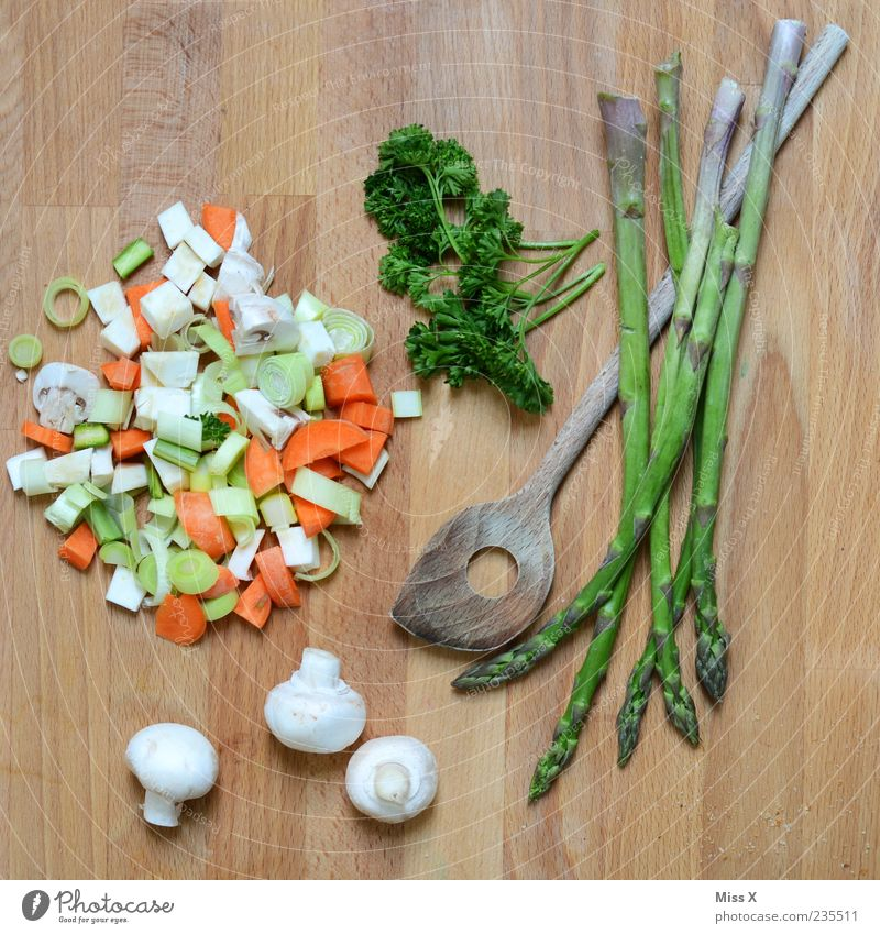 Green Still Life Food Vegetable Soup Stew Herbs and spices Nutrition Organic produce Vegetarian diet Diet Slow food Fresh Delicious Healthy Eating Asparagus