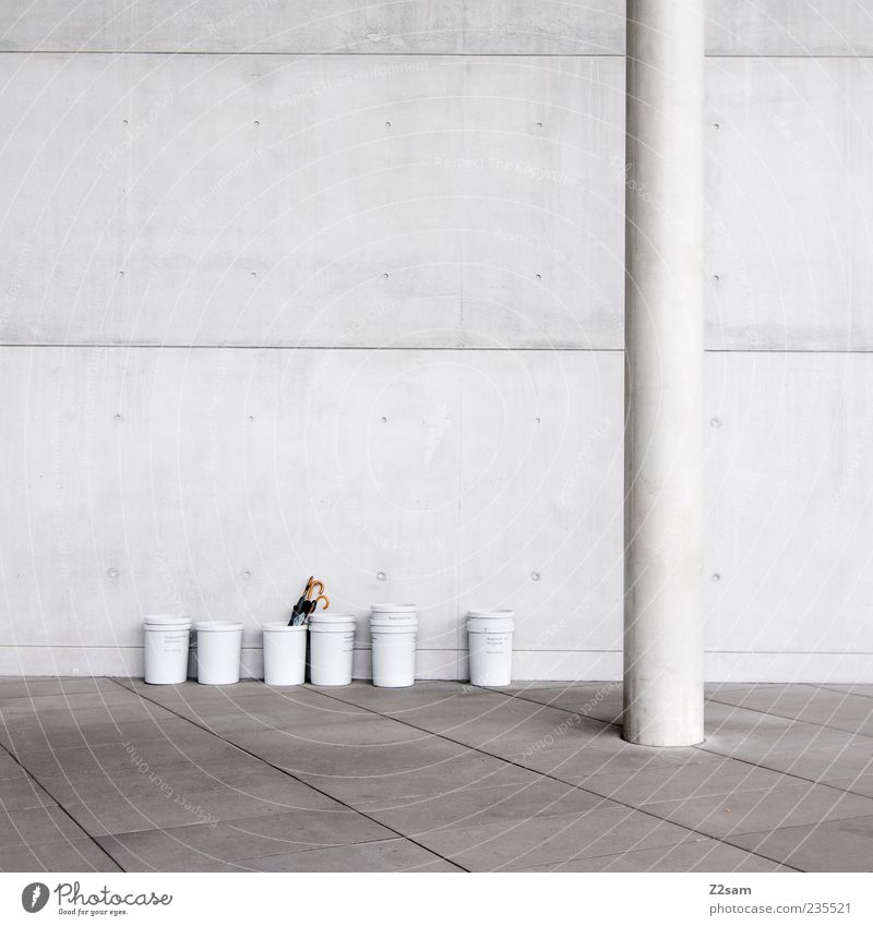 Loneliness Dark Cold Wall (building) Architecture Gray Wall (barrier) Building Style Line Facade Elegant Arrangement Concrete Modern High-rise