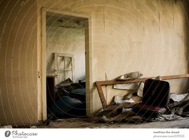 Loneliness House (Residential Structure) Calm Dark Window Wall (building) Wall (barrier) Building Interior design Door Room Going Dirty Poverty Exceptional