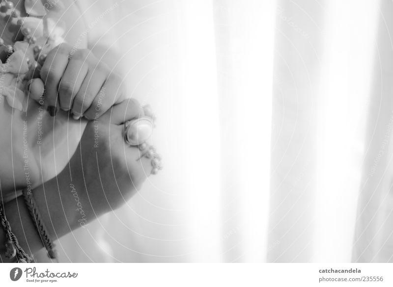 mellow Human being Hand Beautiful Feminine Elegant Fingers Romance Soft Ring Jewellery Accessory Black & white photo Manicure