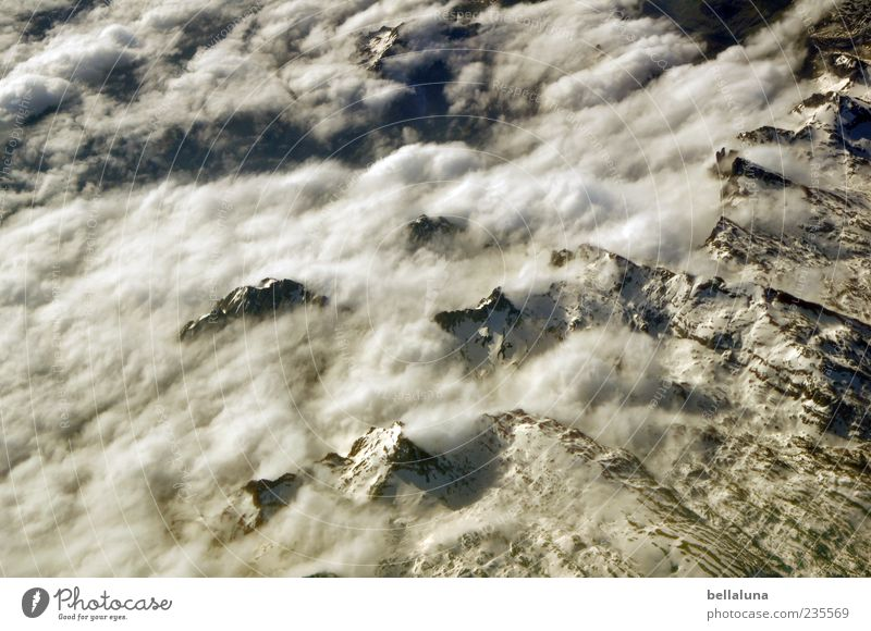 Sky Nature Beautiful Winter Clouds Landscape Snow Mountain Ice Rock Frost Alps Beautiful weather Peak Aerial photograph Snowcapped peak