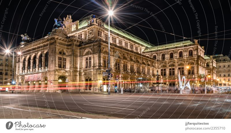 The Vienna State Opera Vacation & Travel Old Blue Town Street Architecture Building Art Tourism Europe Culture Historic City trip Monument Sightseeing European