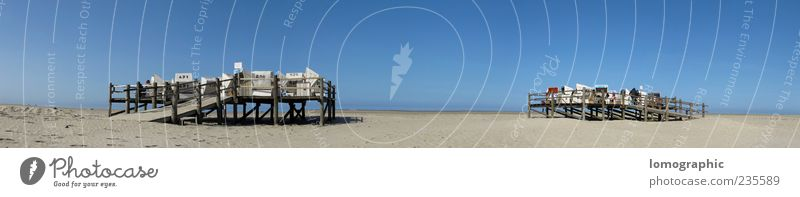 St. Peter Ording - Beach panorama Nature Landscape Sand Sky Cloudless sky Horizon Sunlight Summer Beautiful weather Coast North Sea Relaxation Vacation & Travel