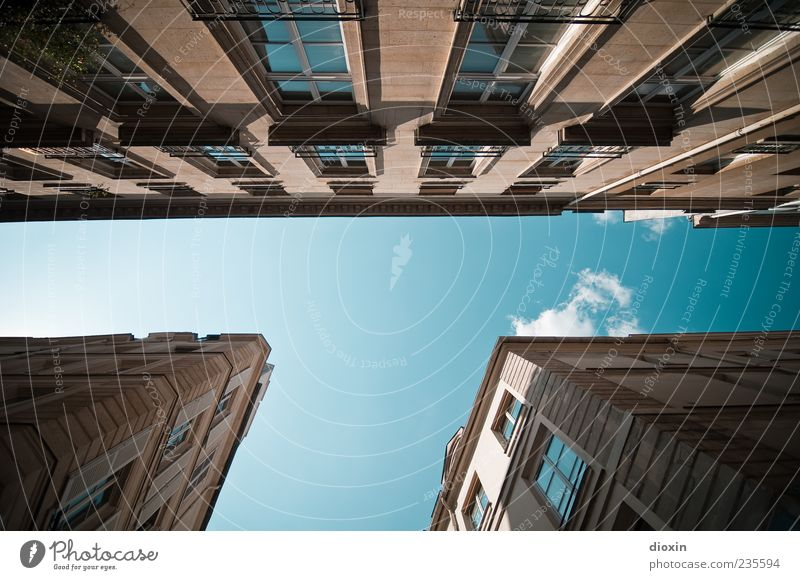 Sky Clouds House (Residential Structure) Window Wall (building) Architecture Wall (barrier) Building Facade Tall Exceptional Europe Letters (alphabet)