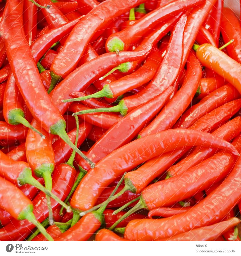 Red Nutrition Food Fresh Vegetable Herbs and spices Tangy Delicious Organic produce Exotic Vegetarian diet Chili Farmer's market Greengrocer Vegetable market Fruit- or Vegetable stall