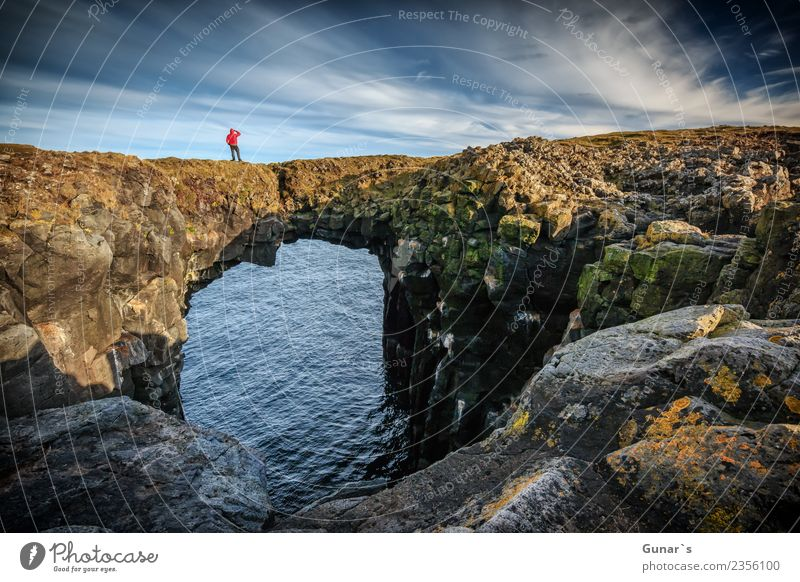 Nature Vacation & Travel Landscape Ocean Far-off places Coast Freedom Rock Adventure Curiosity Hope Elements Fear of heights Longing Trust Wanderlust