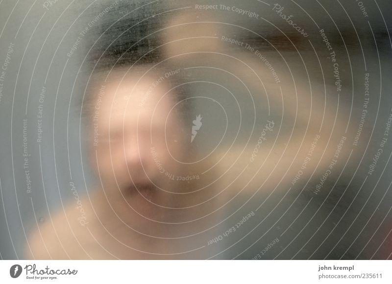 Human being Man Adults Gray Head Brown Fear Masculine Threat Bathroom Mirror Creepy Pain Scream Whimsical Trashy