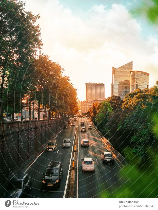 Cityscape of traffic road at sunset Lifestyle Vacation & Travel Tourism Trip Adventure Sightseeing City trip Cycling tour Environment Spring Summer Autumn