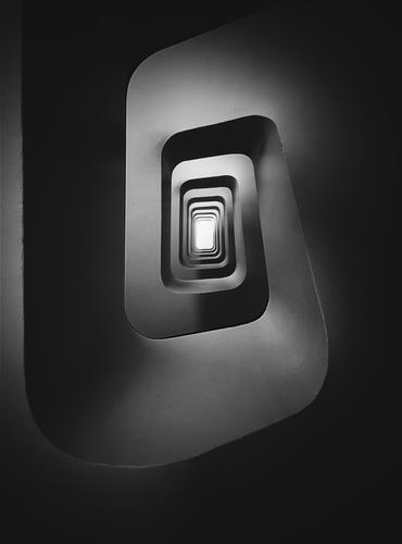Stairs perspective Town House (Residential Structure) Loneliness Dark Architecture Cold Building Modern Technology Esthetic Perspective Future Tall Simple