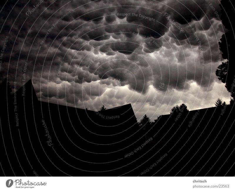 White Black Clouds Dark Weather Round