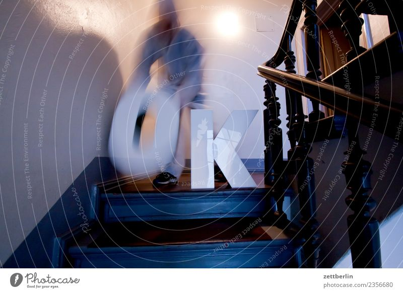 OK (8) Landing Descent Downward Go up Upward Handrail Banister House (Residential Structure) Man Apartment house Human being Deserted