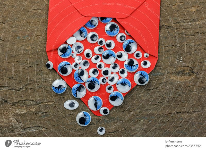 Blue Red Eyes Business Fear Office Communicate Happiness Sign Curiosity Information Mysterious Trust Expectation Competition Mail