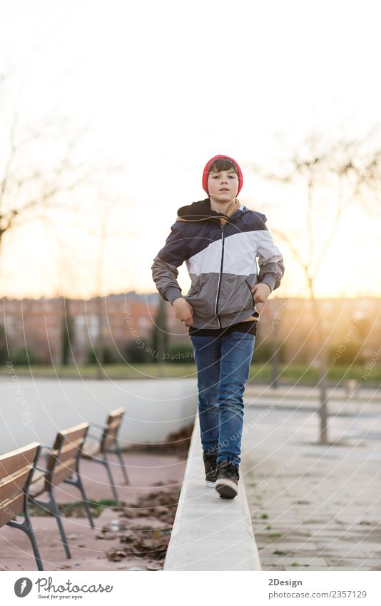 Young teenager portrait at sunrisev Child Human being Nature Youth (Young adults) Man Leaf Face Adults Lifestyle Autumn Style Boy (child) Happy Masculine Park