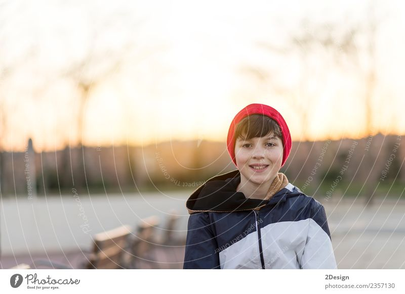 Young teenager portrait at sunrise Lifestyle Style Happy Face Schoolchild Student Academic studies Human being Masculine Boy (child) Man Adults