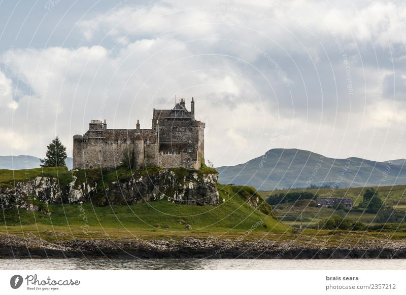 Duart Castle Sky Nature Vacation & Travel Old Blue Summer Green Landscape Ocean House (Residential Structure) Clouds Architecture Lifestyle Coast Building
