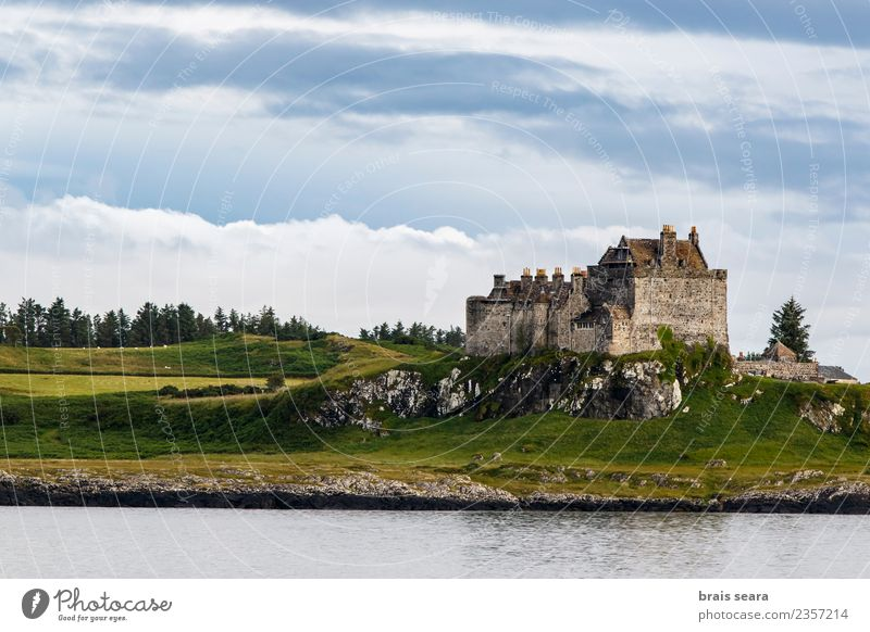 Duart Castle Sky Nature Vacation & Travel Old Blue Summer Green Landscape Ocean Clouds Architecture Coast Building Tourism Facade Moody