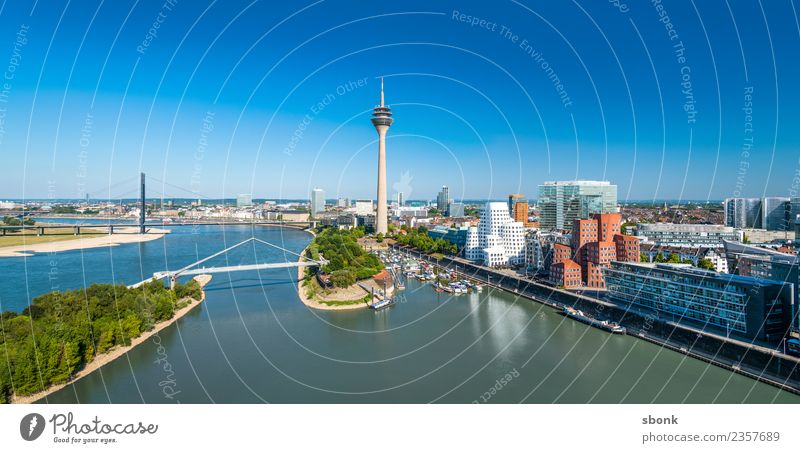 Vacation & Travel Town Architecture Building Germany Skyline Port City Duesseldorf