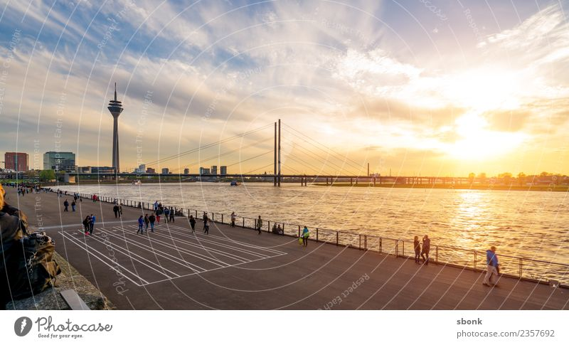 Vacation & Travel Town Germany Skyline City Duesseldorf