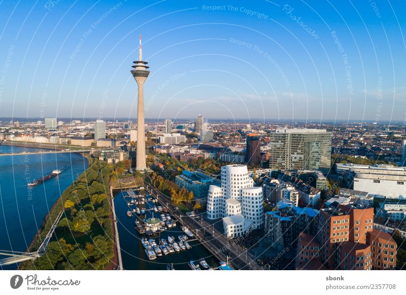 Vacation & Travel Town Germany Tower Skyline Port City Duesseldorf