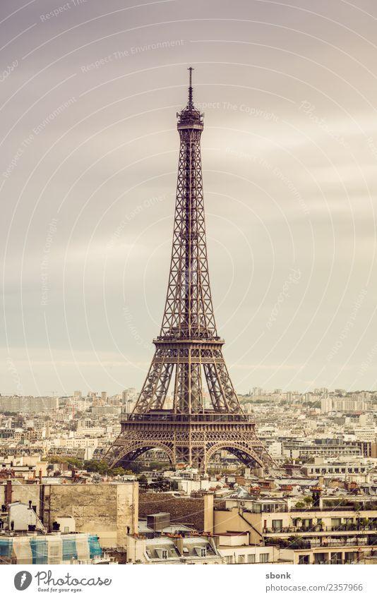 Vacation & Travel Summer Town Love Tourist Attraction Skyline Landmark Capital city France Paris City Eiffel Tower