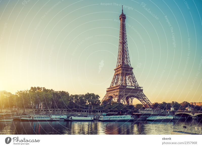 Paris Morning Romantic Vacation & Travel Summer France Town Skyline Tourist Attraction Landmark Monument Eiffel Tower Love urban City architecture tourism